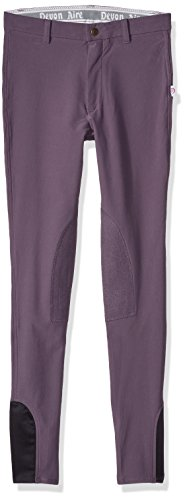 DEVON-AIRE Women's Versailles Lo-Rise Breech, Purple, Regular/Small