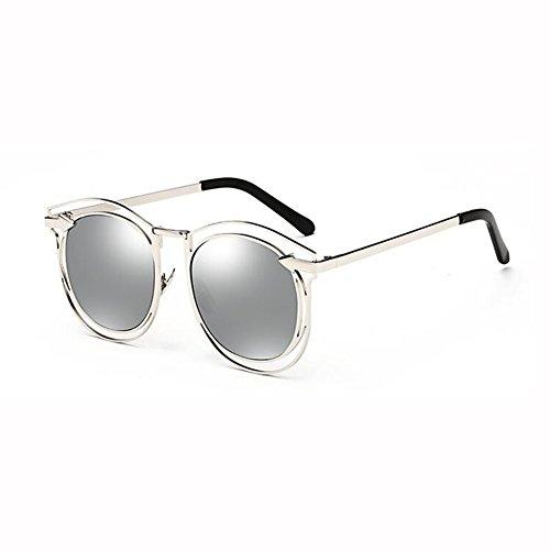 Viaje Street Moda De Personalidad Flecha Sol Beat xin Gafas 3 Hembra WX Cara 2 Color Hipster Redonda Metal 86HSRS