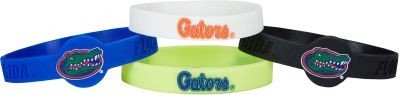 aminco NCAA Florida CCP-BC-283-02 Silicone Bracelet (4-Pack), One Size, Multicolor by aminco