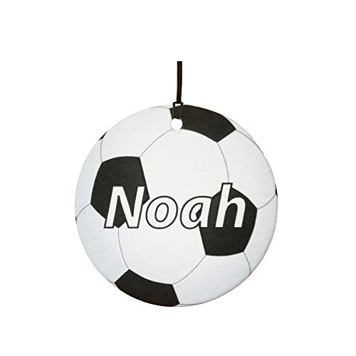 - PERSONALISED NAME FOOTBALL/SOCCER CAR AIR FRESHENER