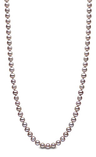 Kimura Pearls Femme  14carats (585/1000)  Or blanc #Gold Rond  Perle d'eau douce chinoise rose Perle