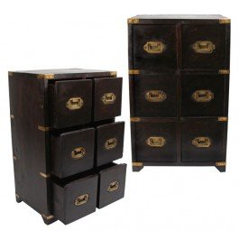 British Campaign- Military Chest of Drawers (6-Drawer) (MSRP:$275) (Campaign Chest)