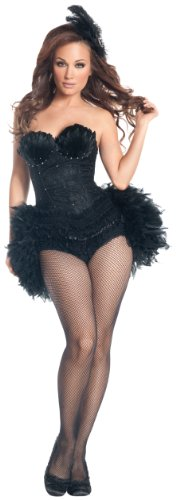 Mystery House Swan Costume, Black, X-Large -