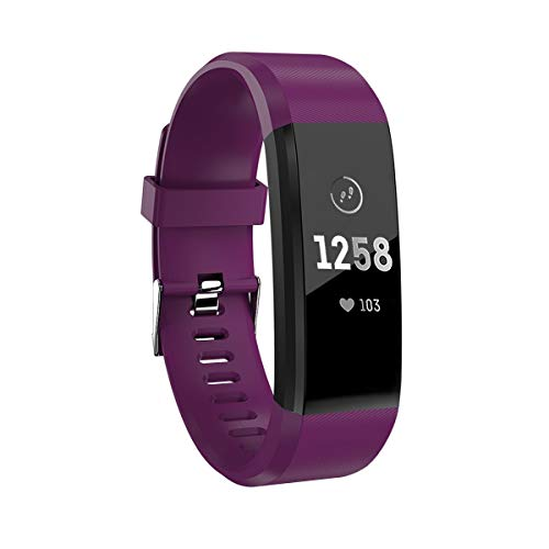 ZDAGO Fitness Tracker with Heart Rate Monitor Waterproof Smart Band with Calorie Counter Activity Tracker with Connected GPS Pedometer for Men Women and Gift Purple