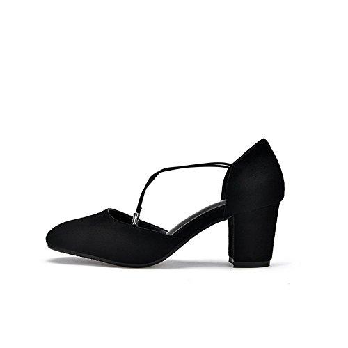 Inconnu 1TO9, Sandales Compensées Femme Noir