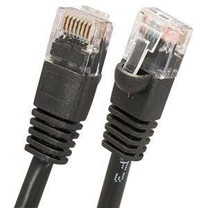 10Ft Cat.5E Molded Snagless Patch Cable Black