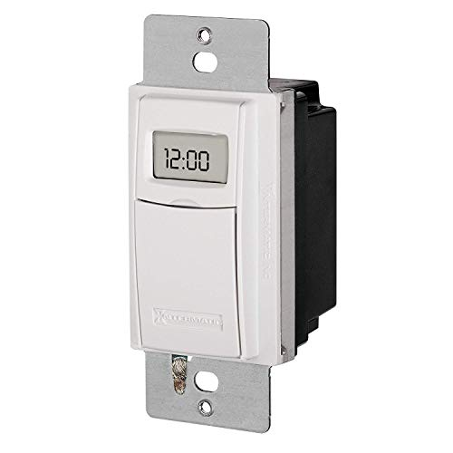 Intermatic ST01 7 Day Programmable In Wall Digital Timer Switch for Lights  and Appliances, Astronomic, Self Adjusting, Heavy Duty (Limited Edition)