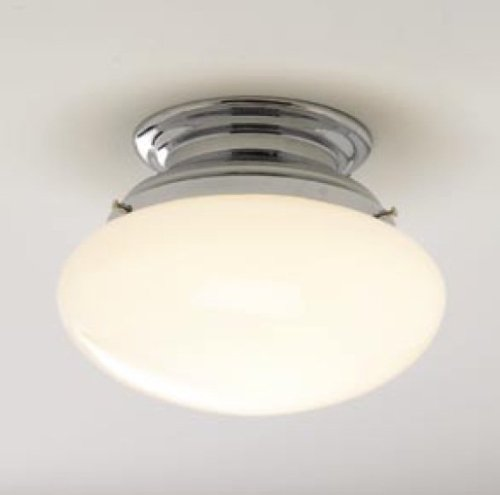Clayton 1 Light (Norwell Lighting 5370-CH-SO Clayton - One Light Flush Mount, Glass Options: Shiny Opal, Choose Finish: CH: Chrome)