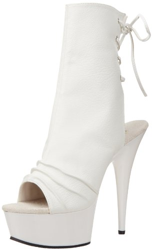 Delight Leather Bianco Faux 1018 Donna Wht Pleaser Wht Stivali White gdqga