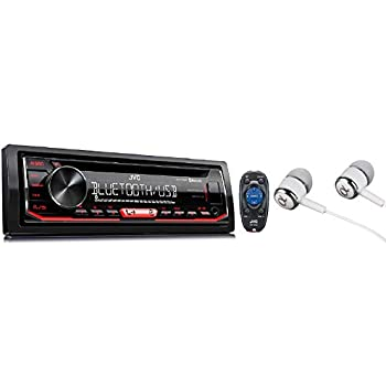 jvc single-din built-in bluetooth, dual phone connection, android music  playback, cd mp3 am/fm usb aux input car stereo player, pandora spotify  control