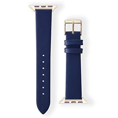 Wristology Apple Watch 38mm Gold Womens Interchangeable Replacement Watch Band (Navy Blue) (Madden 25 Mobile)