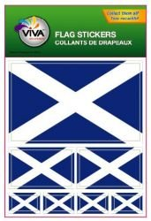 (Scotland St Andrews Cross Country Flag Set of 7 Different Size Collection Decal Stickers ... New in Package)