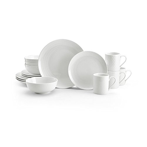 Mikasa 5224194 Cheers 16-Piece Dinnerware Set, Service for 4