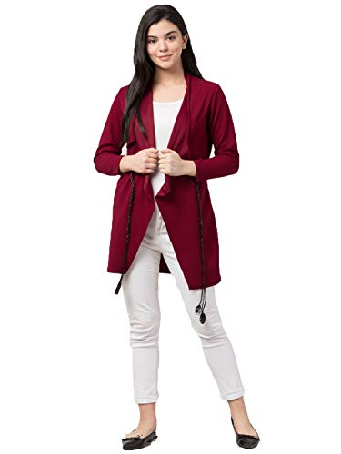 Arbiter Collection Women's Cotton Blend Shawl Collared Long Waterfall Shrugs