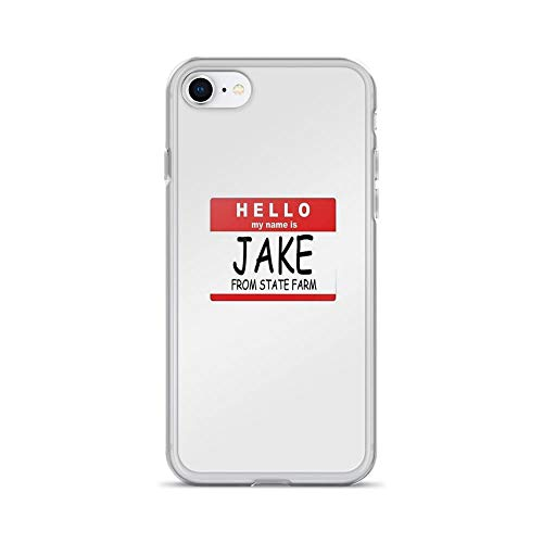 iPhone 7 Case iPhone 8 Case Clear Anti-Scratch My Name is Jake Cover Phone Cases for iPhone 7/iPhone 8, Crystal Clear]()