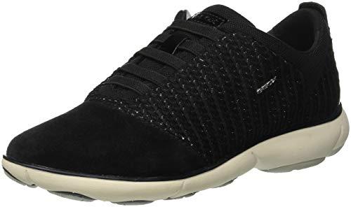 C D Geox black C9999 Nebula Sneakers Femme Basses Noir 1UxEqz