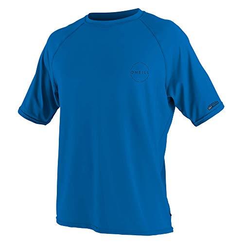 O'Neill Men's 24-7 Traveler UPF 50+ Short Sleeve Sun Shirt, Ocean, Large