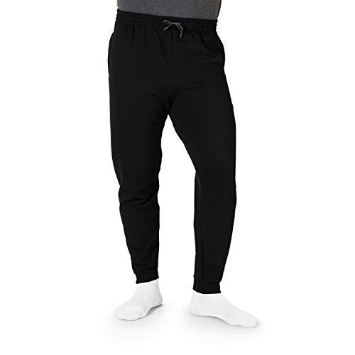 Jerzees Men's Fleece Jogger Pant, Black/Charcoal Grey, X-Large ()