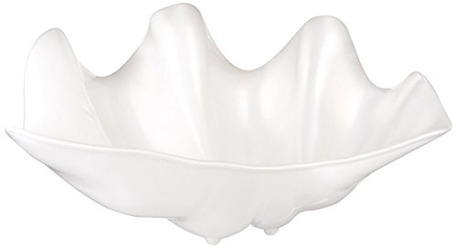 Winco PSBW-5W Shell Bowls, 5-Quart, Pearl (Large Shell Bowl)