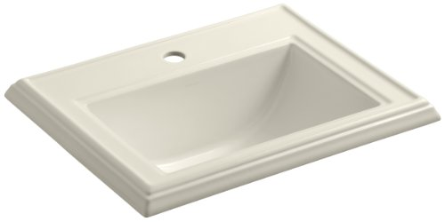 KOHLER K-2241-1-47 Memoirs Self-Rimming Bathroom Sink, Almond