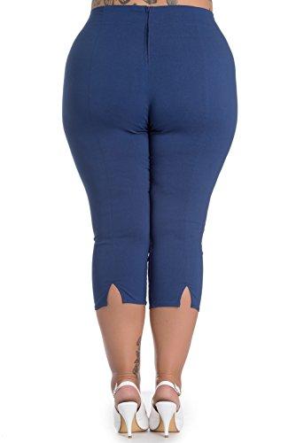 Hell Bunny op Pantalon Capri 5343 Capris Tina Bleu 46r84xq