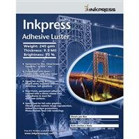 Inkpress Adhesive Luster Inkjet Paper, 240 gsm Weight, 95% Brightness, 9.5 mil Thickness, 13 x 19 inch, 20 Sheets by Inkpress
