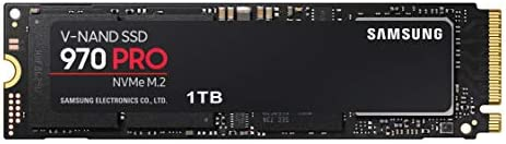 Samsung 970 PRO SSD 1TB - M.2 NVMe Interface Internal Solid State Drive with V-NAND Technology (MZ-V7P1T0BW) Black/Red