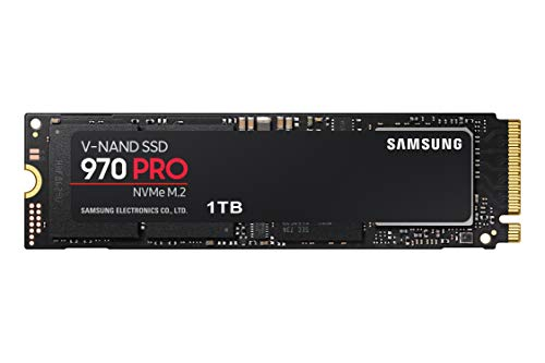Samsung 970 PRO SSD 1TB - M.2 NVMe Interface Internal Solid State Drive with V-NAND Technology (MZ-V7P1T0BW), Black/Red