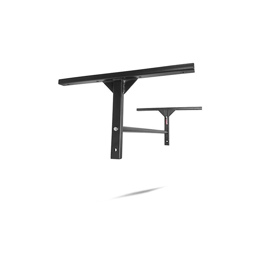 """Titan Fitness Pull Up Bar HD 8' Ceiling Stud Wall Mounted 46"""" Adjustable Height"""