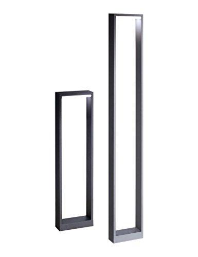 Inowel Waterproof Outdoor Lighting Pole Bollard Lamp, Painted Dark Grey Color Aluminium Finished 3000K, Height of 1000mm ()