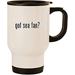 got sea fan? - Stainless Steel 14oz Road Ready Travel Mug, White
