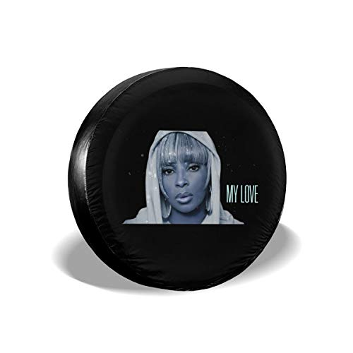 4GHdogQ Mary J Blige Travel Freedom Camper SUV Distributing Black Spare Tire Cover