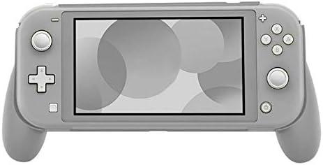 KEHUITONG ポータブルハンドヘルド保護ケースアンチスクラッチNintend用ハードABSカバープロテクターはLiteのハンドルホルダーグリップゲームを切り替え (色 : グレー)