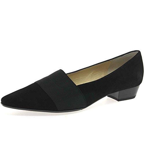 peter-kaiser-womens-lagos-low-heel-suede-court-shoes-7-c-m-uk-9-bm-us-black-suede