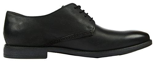 Uomo Stringate Plain Scarpe Clarksnovato Nero Leather black t8qwZ46