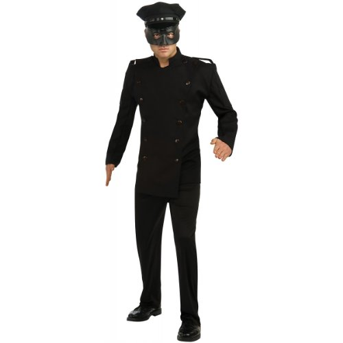 Green Hornet Deluxe Kato Costume, Black, (Green Hornet Mask And Hat)