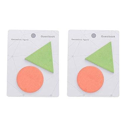 Gr/áficos,Carpetas,Libros,11.5 8.7CM Aimfor 2Libros Notas Adhesivas Geometr/ía Naranja Hex/ágono Papel Sticky Notes Creative Marcadores De P/áginas F/ácil De Pegar y Pelar Para Marcadores