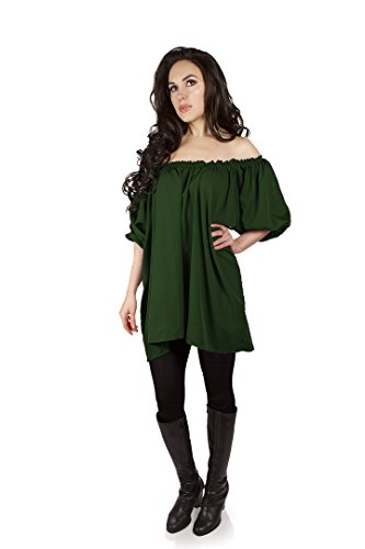 Isolde Blouse Pirate Wench Renaissance Medieval (Hunter (Renaissance Medieval Pirate Wench Costumes)
