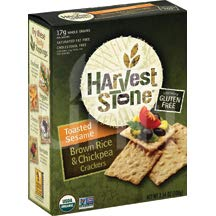 Harvest Stone Harvest Stone Organic Crackers - Rice and Chickpea - Case of 6 - 3.54 oz. by Harvest Stone
