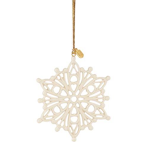 Lenox 2020 Snow Fantasies Snowflake Ornament, 0.20 LB, Ivory