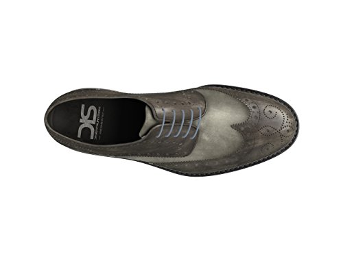 – Monica Zapato Derby – Mujer Dis Full Brogue gris SF5aW