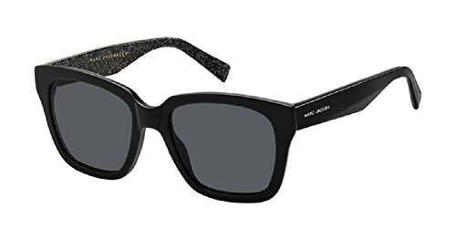 Marc Jacobs Women's MARC 229/S Black Glitter/Grey Blue One - Jacobs Marc Shades