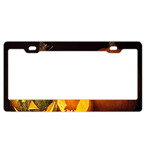 Boeshkey Alumina Holiday Halloween Jack-o-Lantern Pumpkin License Plate Frame]()