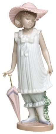 Lladro Nao Collectible Porcelain Figurine: April Showers - 7 1/4