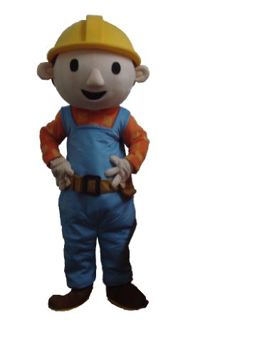 Bob The Builder Costume For Adults (Profession Bob the Builder Mascot Costumes Halloween Cartoon Adult Size)