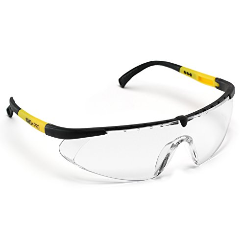 ANSI Approved Safety Glasses with Anti Fog/ Scratch Resistant Lenses- Heavy Duty Nylon Frames- Superior Eye Protection for Shooting/ Cycling/ Construction Work & More (Clear)