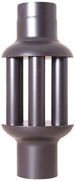 acerto 30107 Intercambiador de calor de gases de escape 150x650mm - negro * ahorro de energía * limpieza fácil * instalación fácil | intercambiador de aire caliente refrigerador de gases