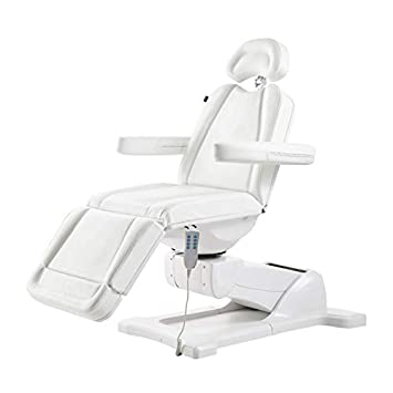 Beauty Full Electrical 4 Motor Podiatry Chair Facial Massage Dental Aesthetic Reclining Chair All Purpose Bed PAVO White