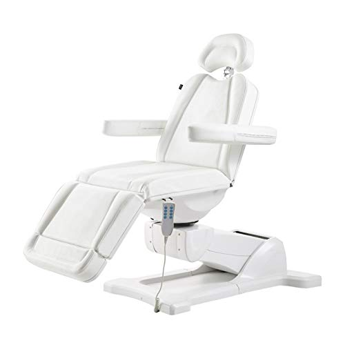 Beauty Full Electrical 4 Motor Podiatry Chair Facial Massage Dental Aesthetic Reclining Chair All Purpose Bed - PAVO -White ()