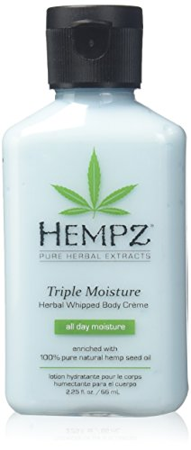 100% Pure Pomegranate Antioxidant - Natural, Triple Moisture Herbal Whipped Body Creme with 100% Pure Hemp Seed Oil for 24-Hour Hydration - Moisturizing Vegan Skin Lotion with Yangu Oil, Peach and Grapefruit - Enriched Moisturizer